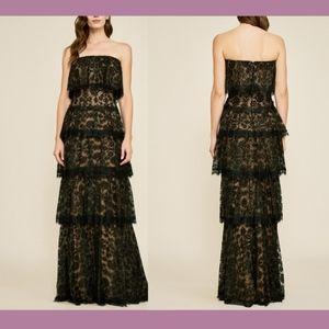 NEW $788 Tadashi Shoji Moe  Tiered Lace Gown 18